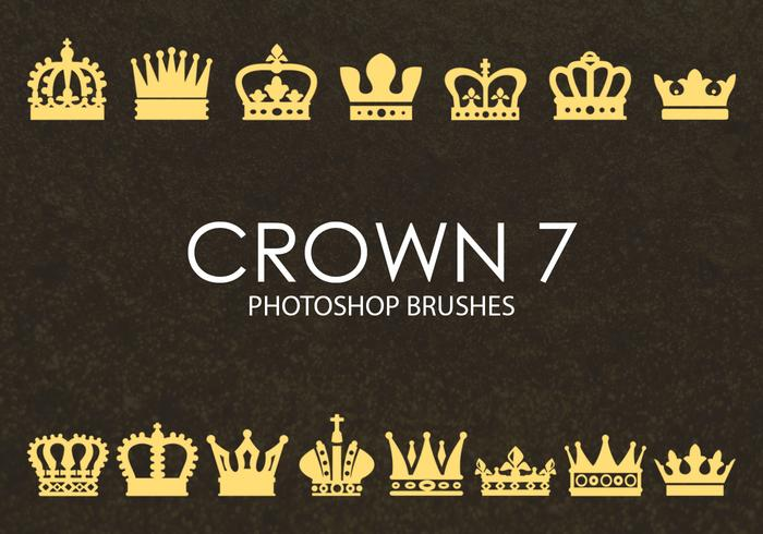 Brochas gratuitas de Photoshop Crown 7