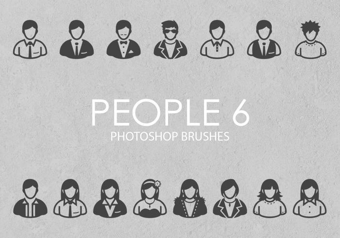 pessoas livres pinceladas do photoshop 6