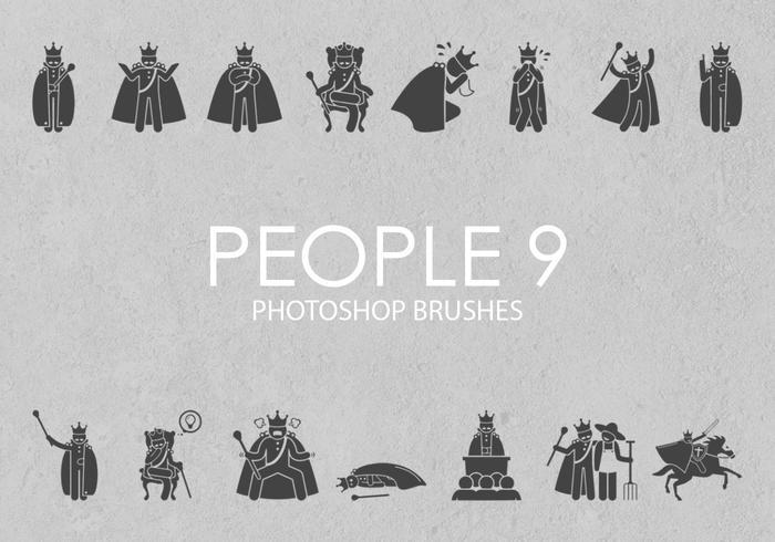 pessoas livres pinceladas do photoshop 9