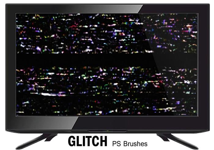20 glitch texture ps brushes.abr vol.5