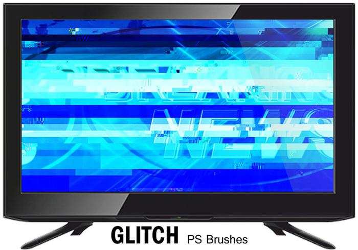 20 glitch texture ps brushes.abr vol.6