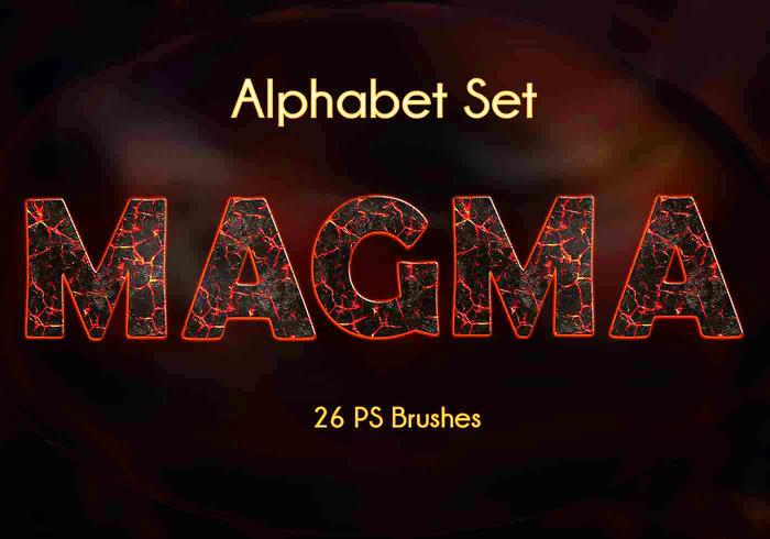 26 Lettres Magma Alphabet PS Brushes.abr vol.1