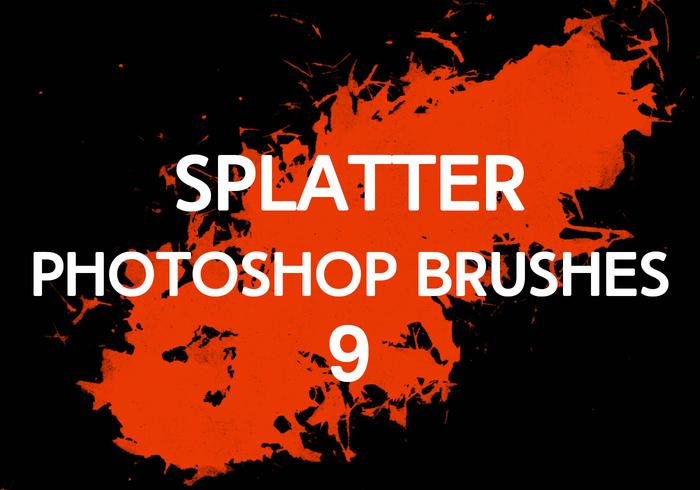 Splatter Photoshop Pinceaux 9
