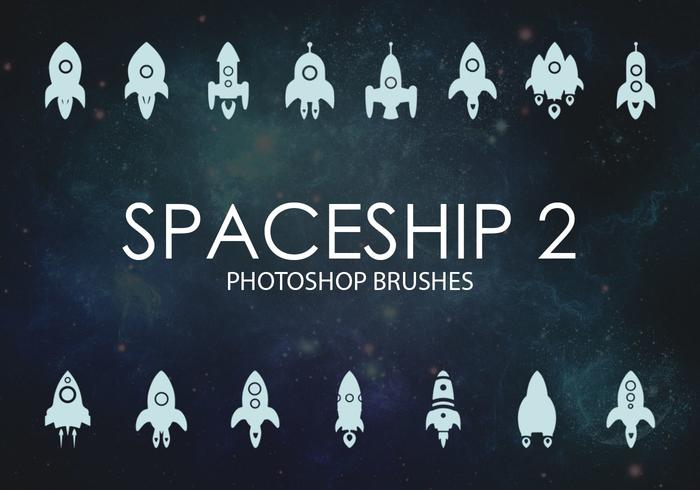 Free Spaceship Photoshop Brushes 2