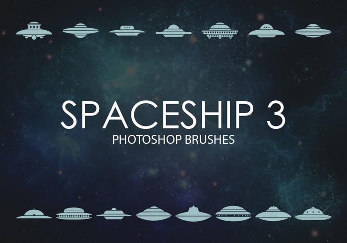 Free Spaceship Photoshop Brushes 3