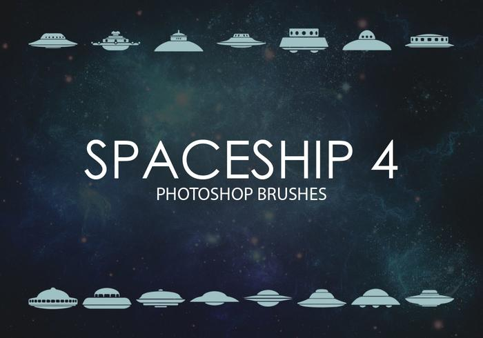 Free Spaceship Photoshop Brushes 4