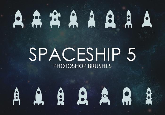 Free Spaceship Pinceles para Photoshop 5
