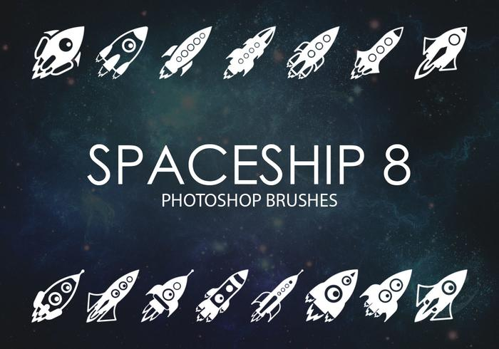 Free Spaceship Photoshop Brushes 8