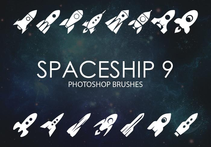 Free Spaceship Photoshop Brushes 9