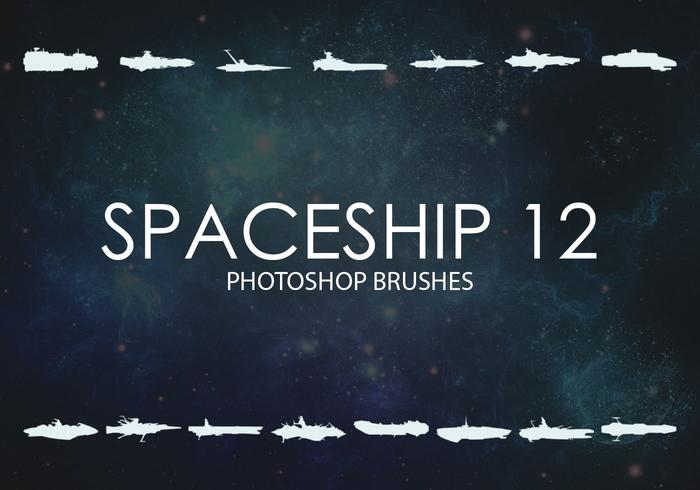 Gratis rymdskepps Photoshop borstar 12