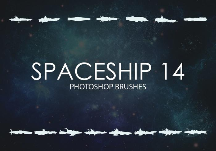 Free Spaceship Photoshop Brushes 14