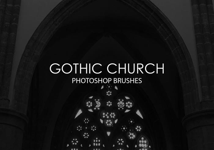 Free Gothic Church Photoshop Brushes