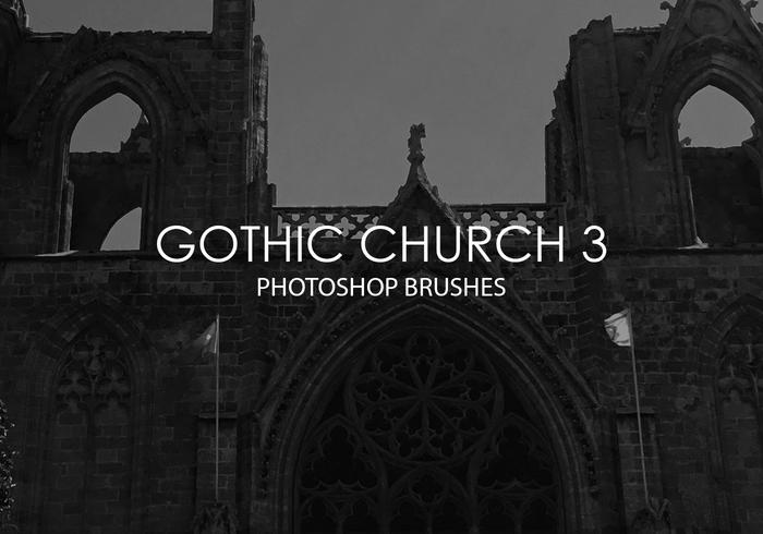 Gratis Gothic Church Pinceles para Photoshop 3