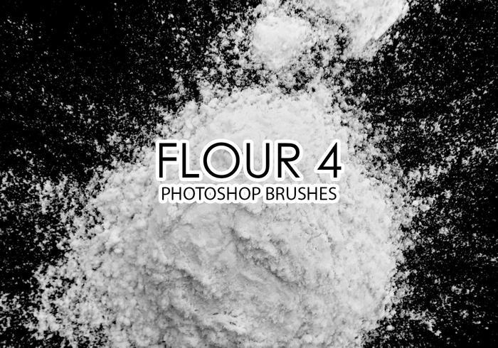 Free Flour Photoshop Brushes 4