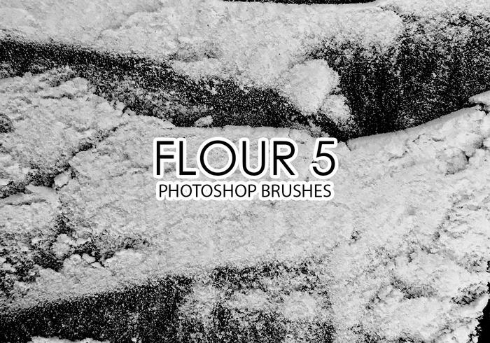 Free Flour Photoshop Brushes 5