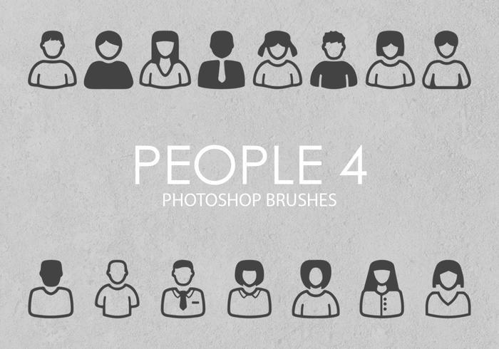 Freie Leute Photoshop Pinsel 4