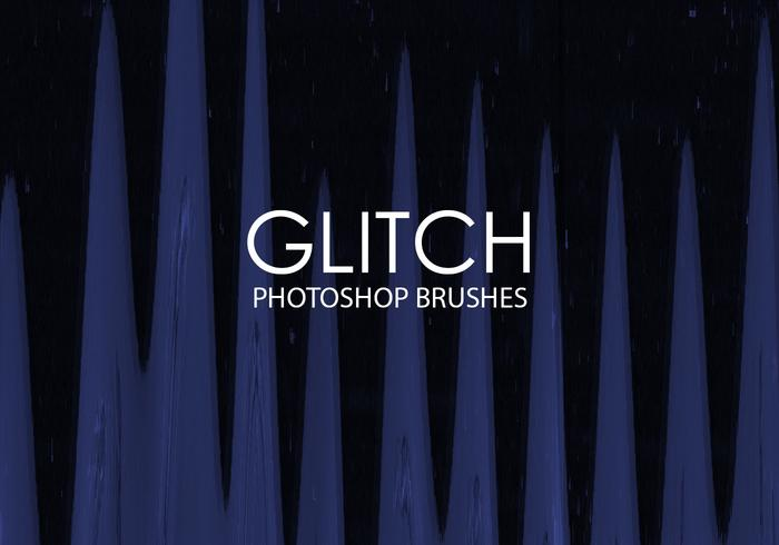 Free Glitch Pinceles para Photoshop