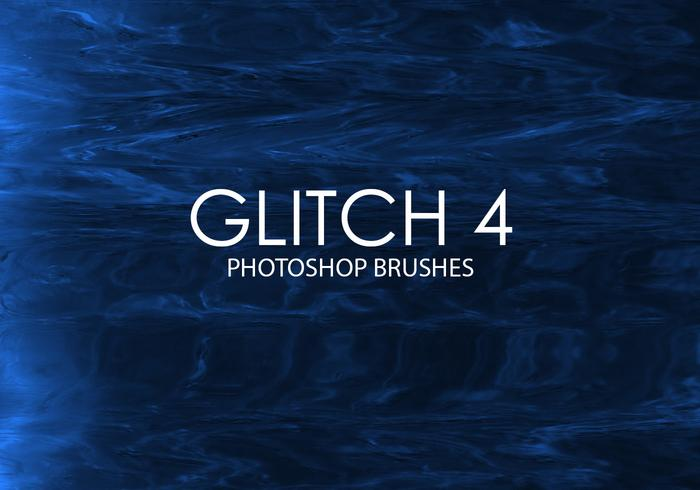 Gratis Glitch Photoshop borstar 4
