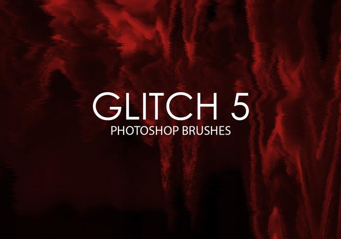 Gratuit Glitch Photoshop Brushes 5