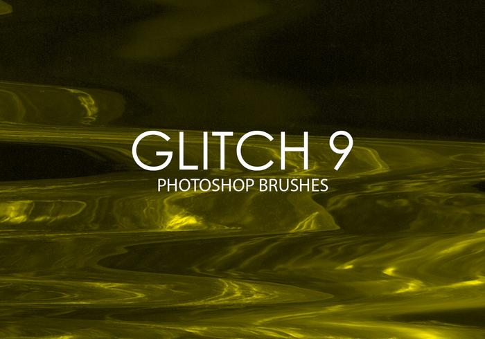 Gratuit Glitch Photoshop Brushes 9