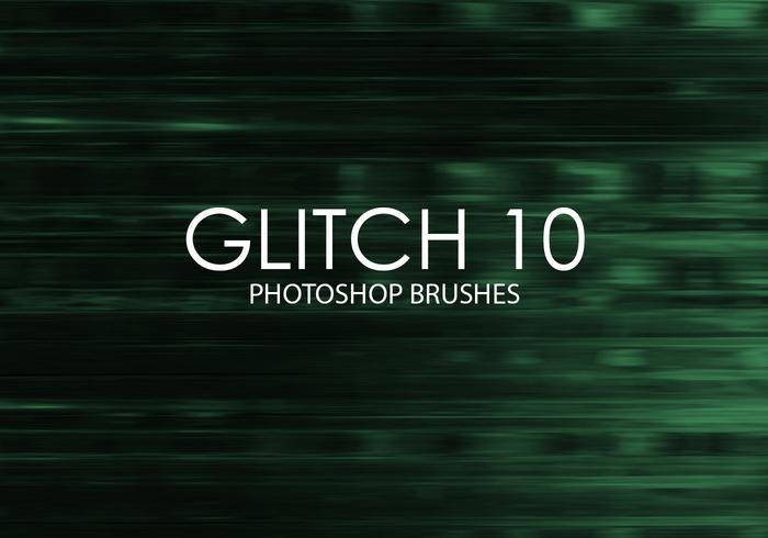 Gratuit Glitch Photoshop Brushes 10