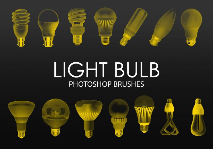 Free Light Bulb Photoshop Brushes