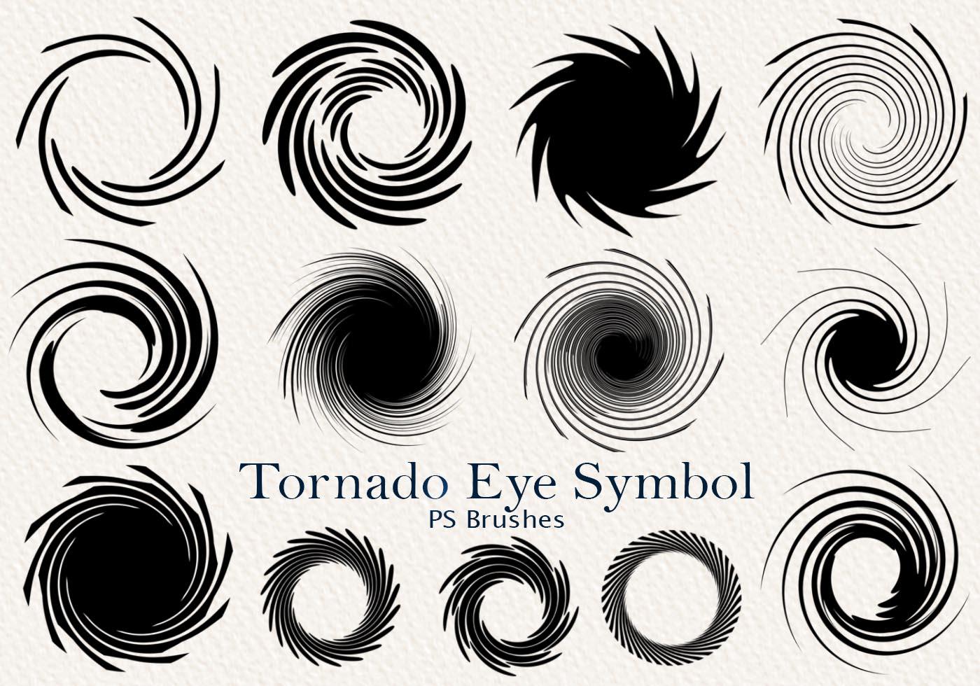 20 tornado symbol ps brushes abr vol2 free photoshop