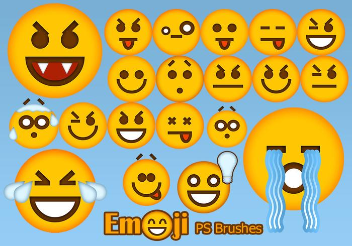 20 Emoji Face PS Brushes abr.Vol.4