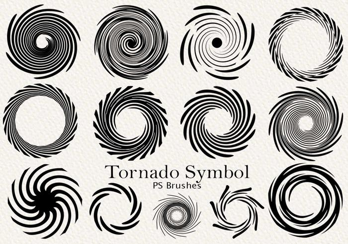 20 Tornado Symbol PS Brushes abr. Volúmen 1