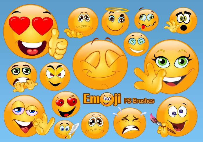 20 Emoji Face PS-borstels abr.Vol.5
