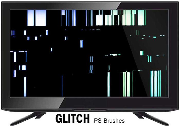 20 Glitch Texture PS Brushes.abr vol.8