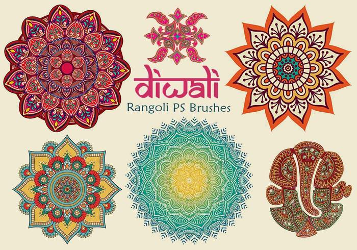 20 Diwali Rangoli PS Brushes abr. vol.11