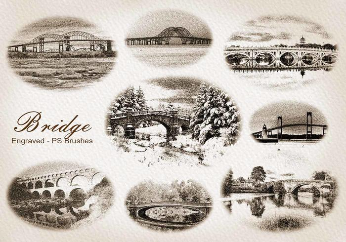 20 Gravure Bridge PS Brushes abr. Vol.5