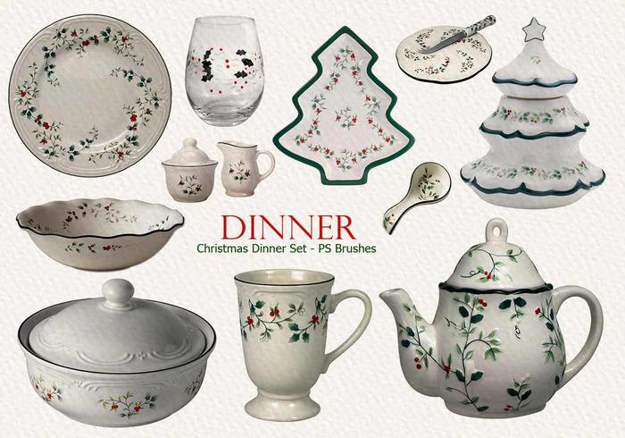 20 Christmas Dinner Set PS Brushes.abr vol.10