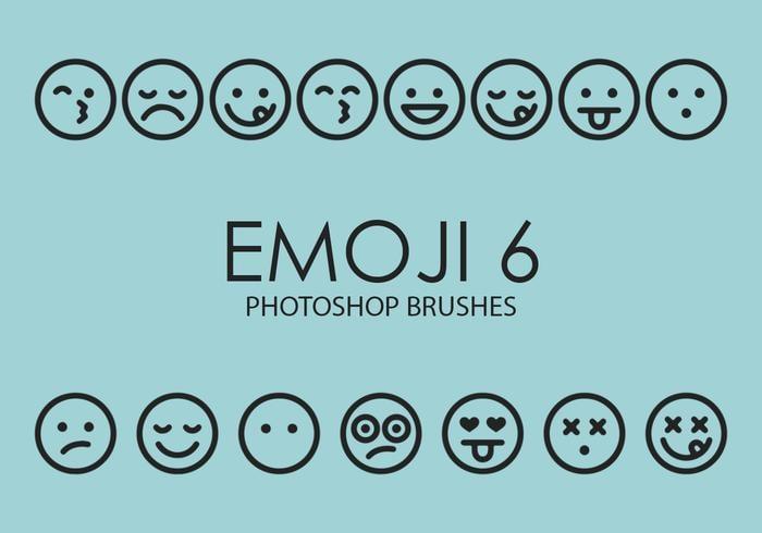 Emoji Photoshop Brushes 6
