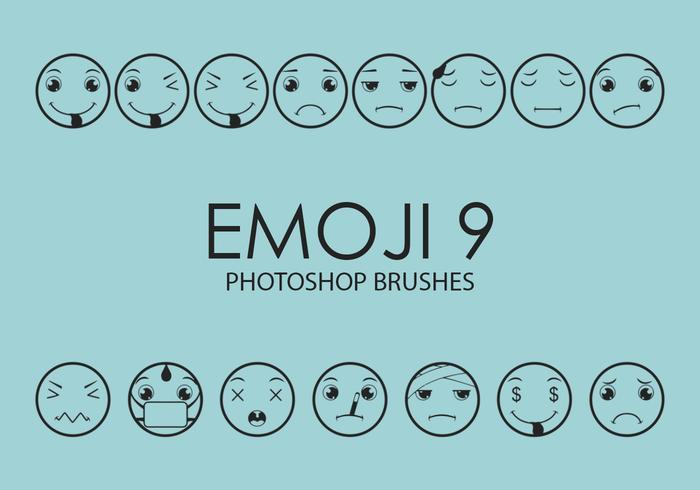 Emoji Photoshop Brushes 9