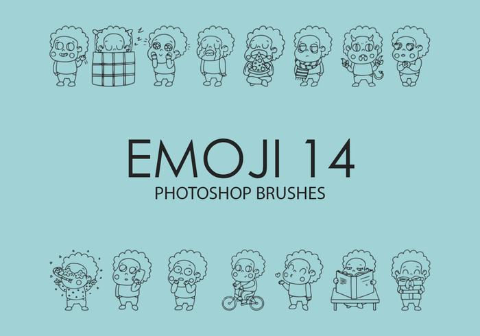 Emoji Photoshop Brushes 14