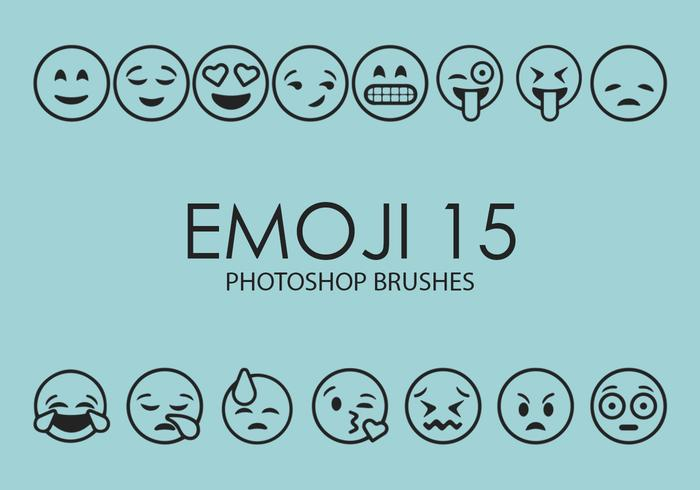 emoji photoshop brosses 15