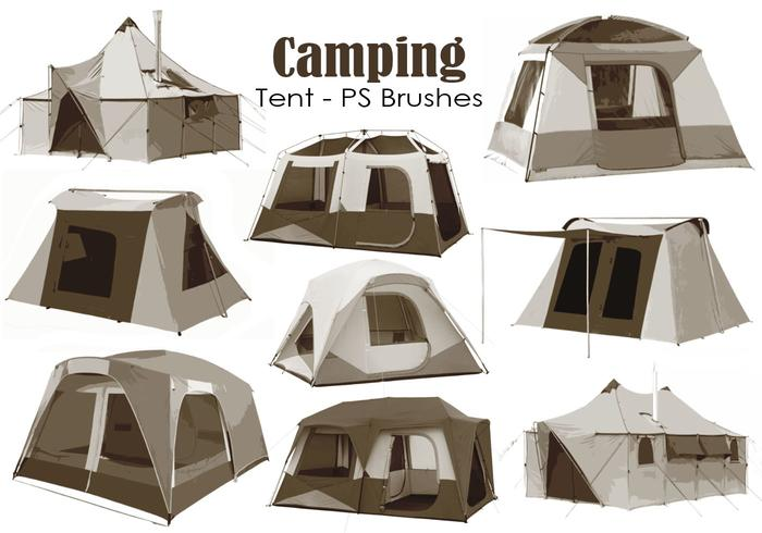20 Camping Tent PS Brushes abr. Vol.9