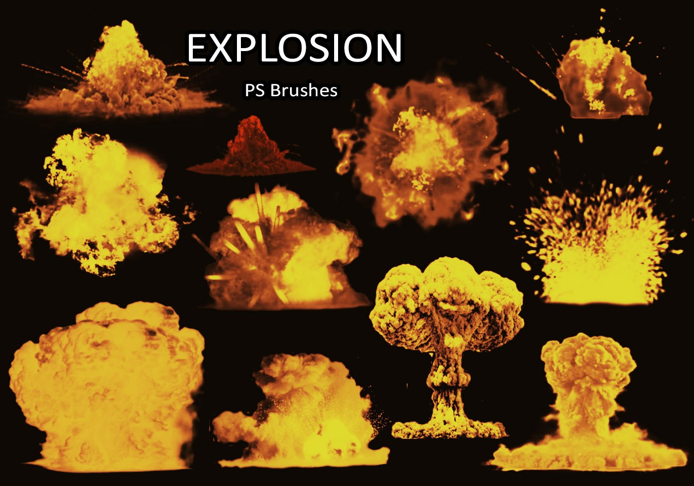 Explosion Free Brushes - (564 Free Downloads)