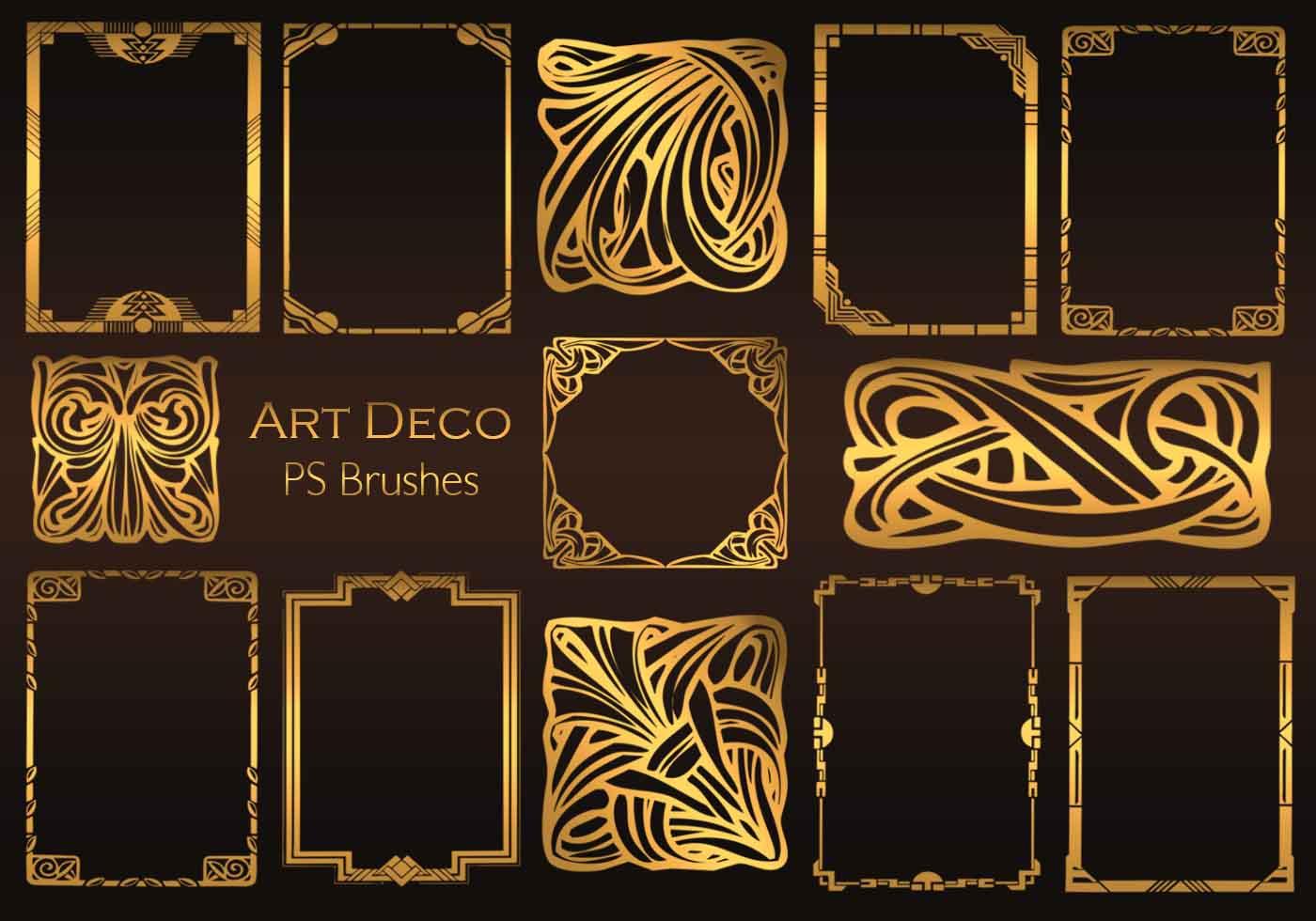 Art Deco: 20 Art Deco PS Brushes.abr Vol.1