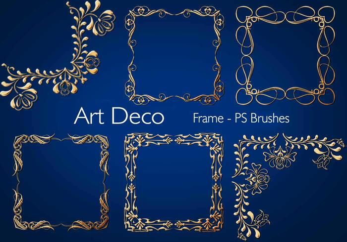20 Art Deco Frame PS Brushes.abr vol.3