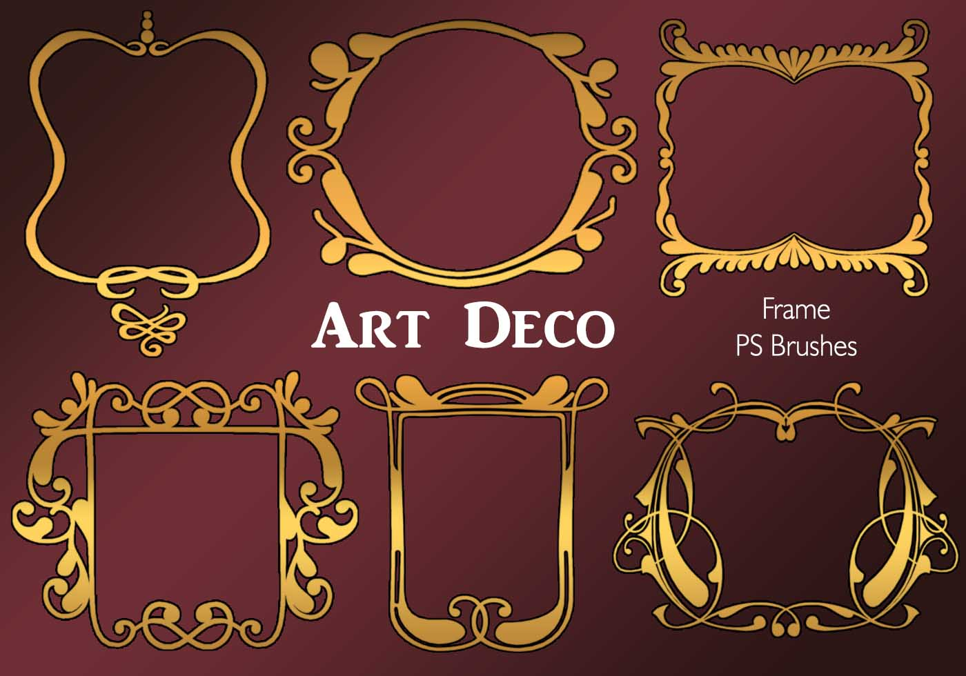 20 art deco frame ps vol 4 free photoshop brushes at brusheezy - Deco vol ...