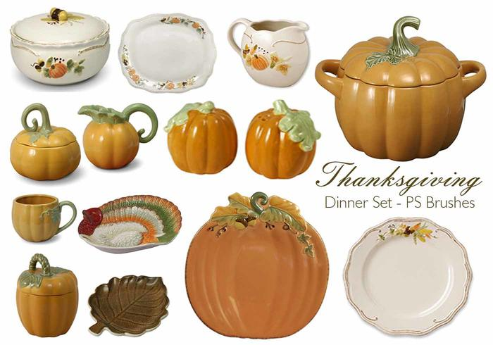 20 Thanksgiving Dinner PS Brushes.abr vol.9