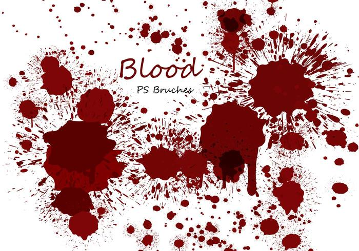 20 Blood Splatter PS Brushes abr vol.9