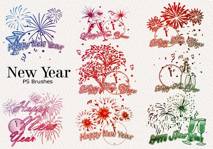 20 New Year PS Brushes abr. Vol.7