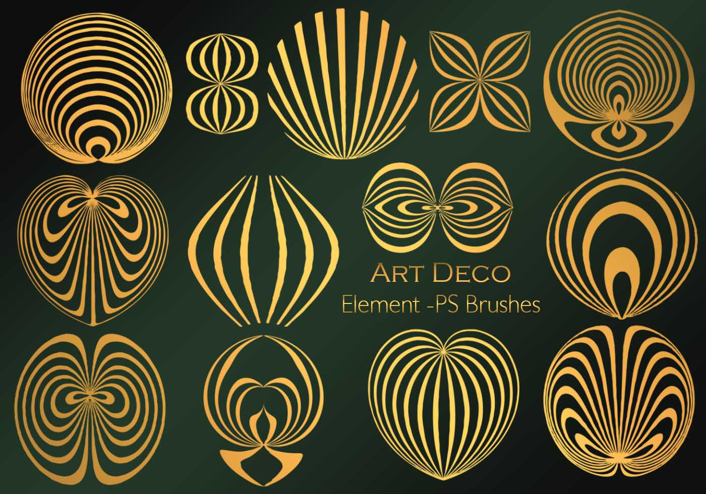 20 art deco element ps vol 5 free photoshop brushes at brusheezy - Deco vol ...