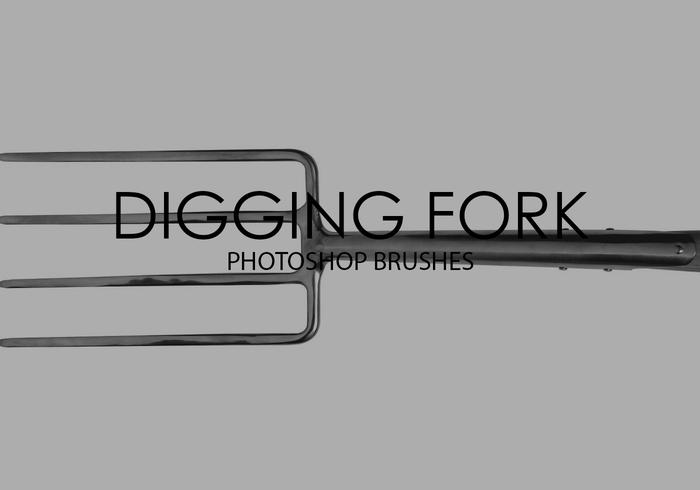 Digging Fork Photoshop Brushes