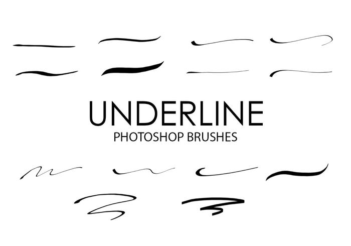 Underline Photoshop Brushes