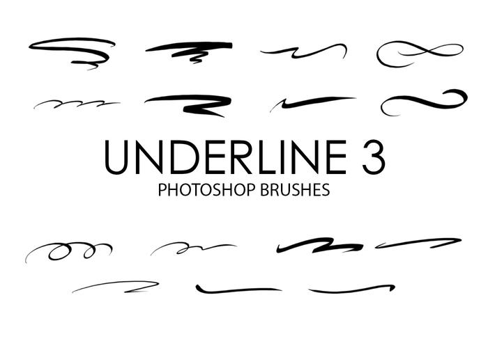 Underline Photoshop Brushes 3
